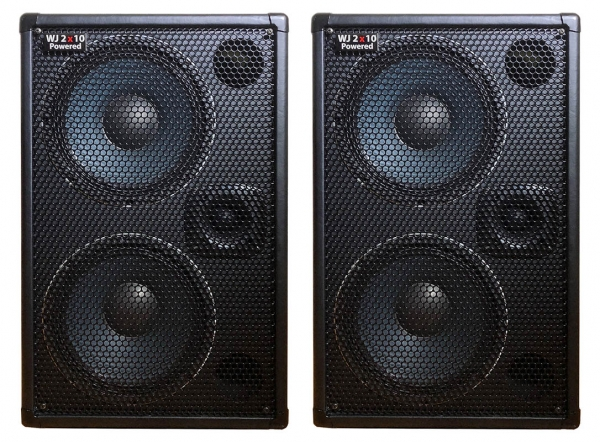 1000 Watt 2x10 Powered Bass Cabinet The WJ 2x10 Now you can have a 1000 Watt compact, portable High End, High Powered, Full Range Bass Cabinet that only requires a pre-amp, your bass & yourself. Or spoil yourself with 2 cabinets & have 2000 watts in 4x10's. Bass cabinets for bass players