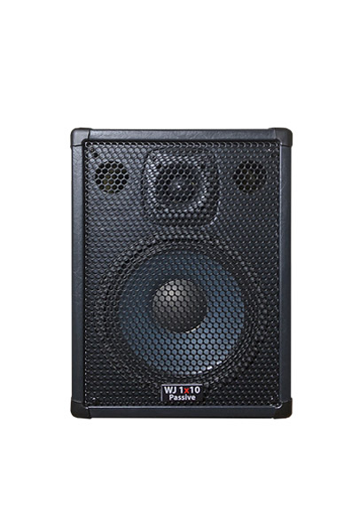Wayne Jones Audio - single 1x10 4 ohm Passive Bass Cabinet. Handles 500 Watts. Has the same driver & tweeter as the 2x10 except they are 4 ohm drivers. Bass cabinet for bass guitar players, upright bass & double bass players.