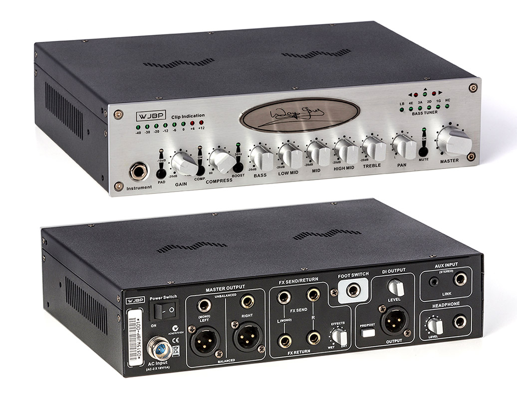 WJBP Stereo Valve Bass Pre-Amp for bass guitar players. All frequencies respond in the exact areas we need them. Basically 1 tone control set for each string in the prominent attack areas. Incredible separation between EQ points.