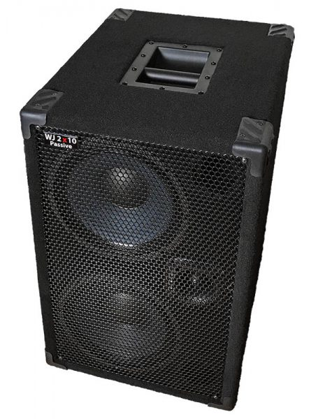 WJ 700 Watt Passive 2x10 Bass Cabinet - 8 Ohms, Compact, Hi End, Crystal Clear, Full Range 2×10 Bass Cabinet (40 Hz – 20 KHz)