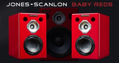 Jones-Scanlon Baby Reds studio monitors - recording engineering, audio and film post production, sound track mastering, audio mixing, sound mixing, recording studio gear.
