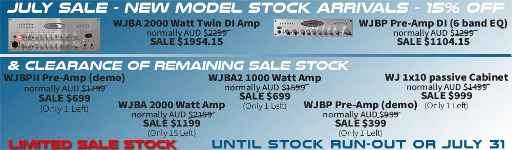 Wayne Jones AUDIO clearance sale. Bass guitar amplification and pre-amps